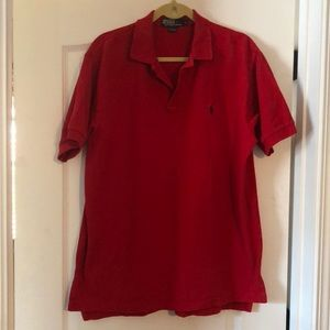 POLO Ralph Lauren Red Golf Shirt Size Large